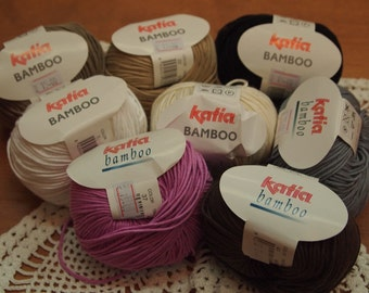 Katia Bamboo DK summer yarn - made in Spain - only 3.99 USD