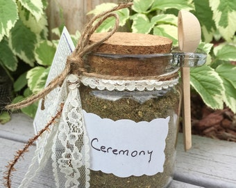 Ceremony and clearing Blend in large glass jar with spoon 3.5 oz) Made by Lozen BrownBear/