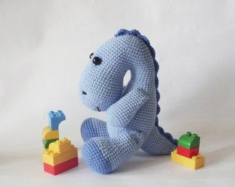PDF Dinosaur  Crochet Pattern - Crocheted Dinosaur,  DIY tutorial