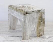 Vintage Wood Stool Vintage Wood Step Stool