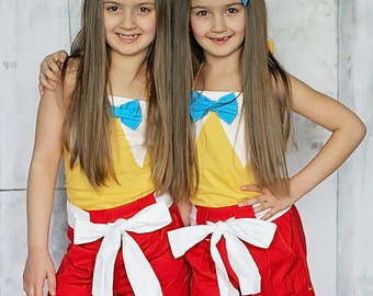 Tweedle Dee and Tweedle Dum - Twin Birthday Outfits  - Matching Sibling Outfits - Bestfriend Outfits - Wonderland Tweedledee and Tweedledum
