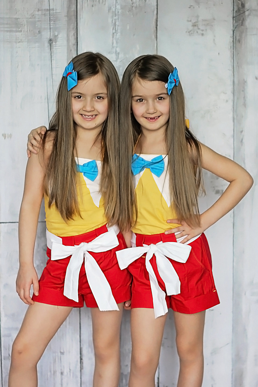 Tweedle Dee and Tweedle Dum Twin Birthday Outfits