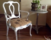 Antiqued Silver French Country Provence Urban  Accent, Side Chair