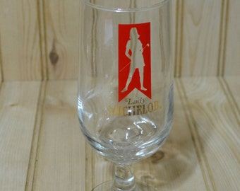 Vintage Michelob Lady Golf Beer Glass