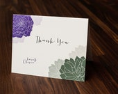 Thank You Card, Personalized Thank you card, Custom Thank you card, Floral Thank You Card, Desert Thank You Card