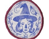 Witch sew-on patch