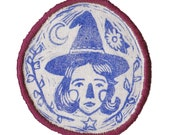 Witch sew-on patch - Choose thread colour