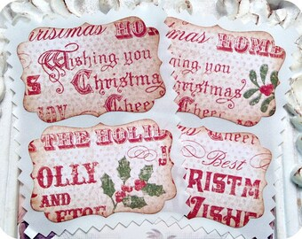 Assorted Vintage Inspired Christmas Stickers / Envelope Seals - Set of 20