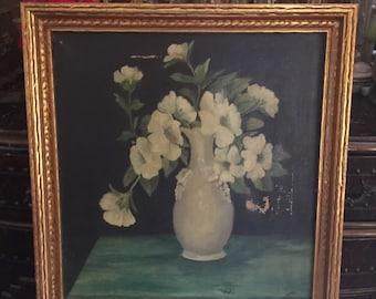 Vintage painting of flowers