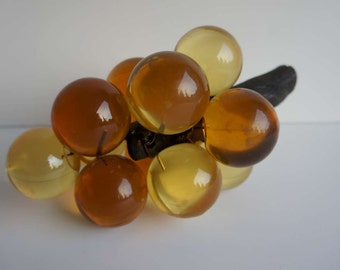 Vintage Lucite Grapes Amber