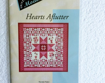"Hearts Aflutter Quilt Sewing Pattern Quilting UC Uncut 57"" x 57"""