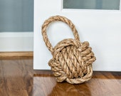 Door Stop / Rope Knot with Handle / cotton or manila