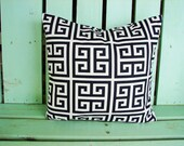 New 16x16 navy blue and white towers print- pillow cover-accent pillow cover- decorative pillow cover-gifts under 25-throw pillow
