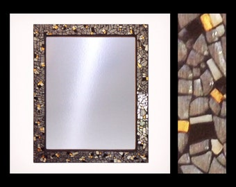 "Light & Texture - Glass Mosaic Mirror (13.5""x16.5"")"