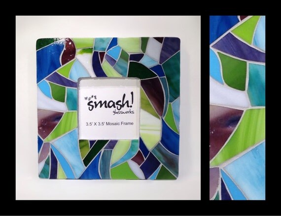 Fresh - 3.5x3.5 Stained Glass Mosaic Picture Frame