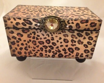 Cheetah Print Decorative Box