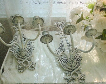 French Sconces Iron FREE SHIPPING Shabby Chic Cottage Country