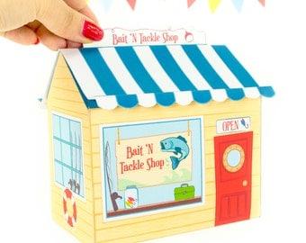 DIY Bait N Tackle Shop Gift Box, Printable PDF Gift Box, Fishing Gift Box, Gift for Him, Candy Box Template, Instant Download