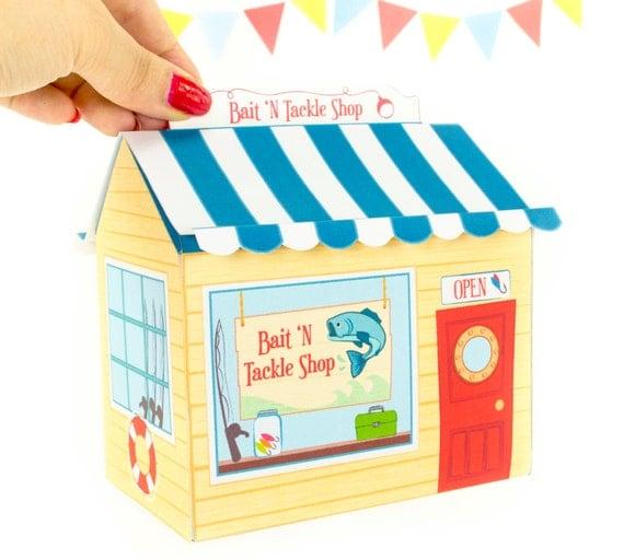 Diy bait n tackle shop gift box printable pdf gift box for Fishing gift box