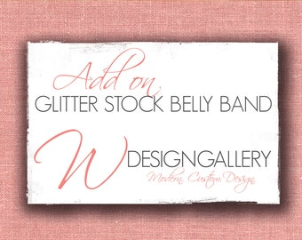 Glitter Stock Belly Band