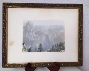 "Rare Antique photograph print signed Harry Best of The Dome Yosemite Valley CA 10""x13"""