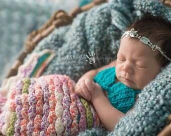 Summer Tieback, Starfish Headband, Rhinestone Headband- Baby Girl Rhinestone Starfish Tieback Beach Pictures Prop