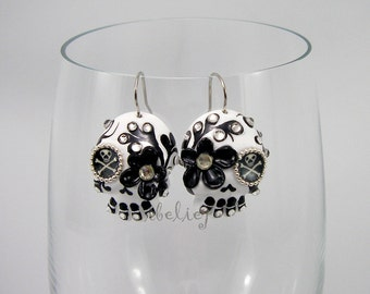 Skull the day of the dead earrings
