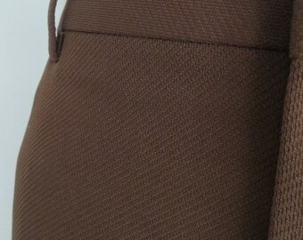 70s vintage mens clothing, mens pants, brown slacks, dress pants, size 38 short