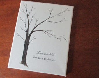 Teacher Thumbprint Tree - SALE