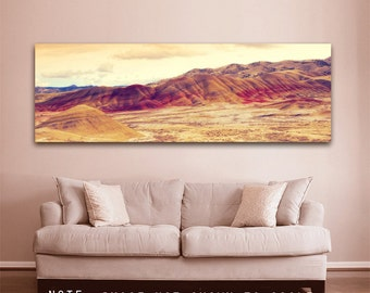 Oregon Landscape | Panorama Photo | The Painted Hills | Gallery Canvas Wrap | Eastern Oregon Print | Landscape Photo | Oregon Painted Hills