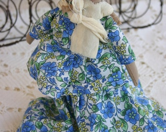 Indian Doll Souvenir Mom and Baby Cloth Rag Doll Indians