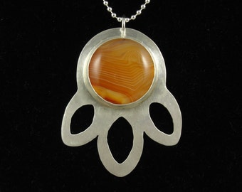 Carnelian burst necklace