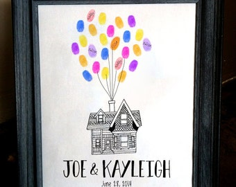 Movie 'Up' Themed House Guest Sign-In