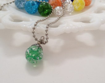 Fried Marble necklace (assorted colors available-made per your request)