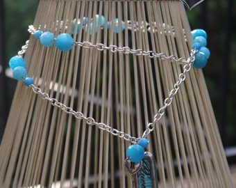 Blue Queen Charm Necklace