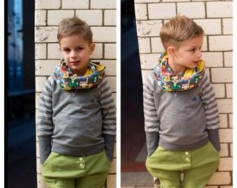Infinity scarf Small 'Angular'
