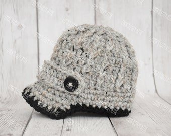Baby Boy Hat, Baby Boy Hats, Baby Boy Hat, Crochet newborn newsboy baby boy hat, newborn infant photo prop baseball cap, baby shower gift