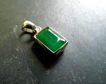 Pendant, jewelry, tourmaline, green, silver, chain