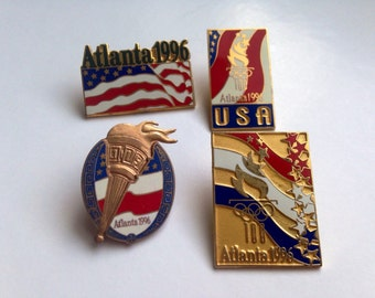 USA Olympic Games Set of Four Pins, made in 1992 for the 1996 Centennial Games