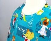 Reversible baby bib, eco friendly, hand made, science, lab, test tube, beaker, lab coat, reversible bib, worms, bugs, baby gift