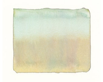 sea grass color form, one of a kind watercolor painting