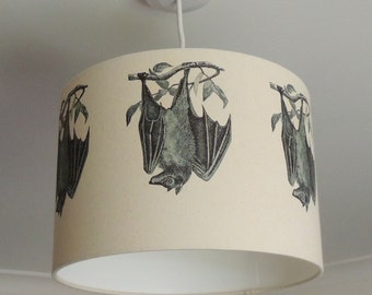 Lampshade with bats - gothic - bat lamp - nature - wildlife - Kettle of Fish