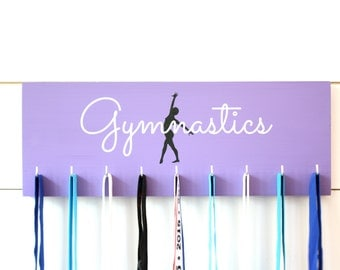 Gymnast Medal Holder / Display - Gymnastics Silhouette - Medium
