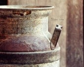 Rustic Photography, Milk Can Wall Art Print, Country Farmhouse Decor |'Ultra Pasteurized'