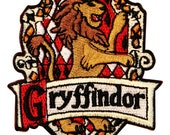 Gryffindor Hogwarts' House Crest Harry Potter Embroidered Iron On Badge Applique Patch