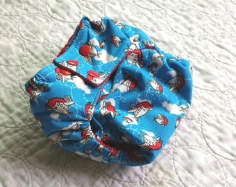 Puffy Planes One Size Pocket Diaper