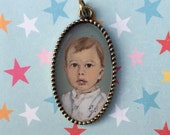Custom Hand painted necklace with your children .
