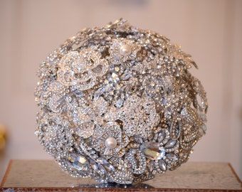 BLACK FRIDAY Brooch Bouquet SALE Ready to Ship Custom Brooch Bouquet Crystal Bouquet
