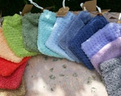 Cotton Soap Saver Bag, 100% Quick-Drying Cotton Terry, Your Choice of Color
