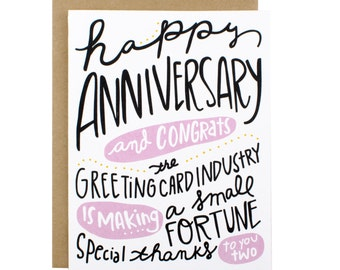 Anniversary Card - Happy Anniversary And Congrats to Card Industry